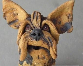 Yorkshire Terrier Ceramic Dog Sculpture
