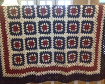 Picnic on the 4th of July FREE SHIPPING Afghan