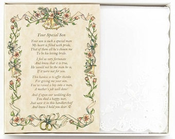 Personalized From the Bride to her Mother-in-Law Wedding Handkerchief - BH103