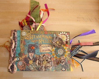 Extravagant Handmade Steampunk Halloween Photo/Memory Album OOAK