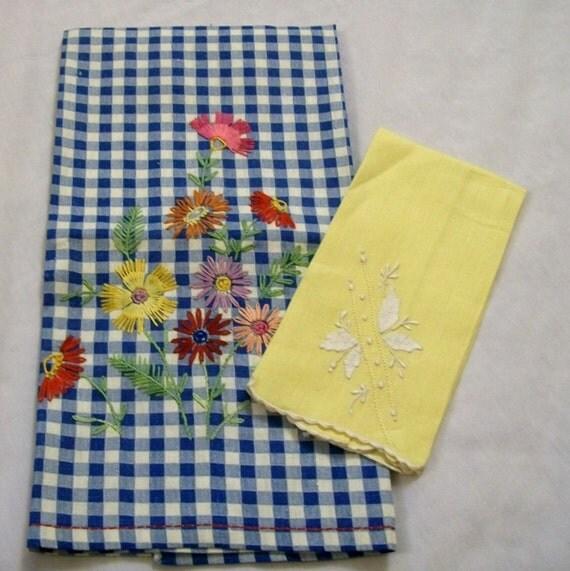 Dish Towels Tea Towel Vintage Dish Towel By VintagePlusCrafts