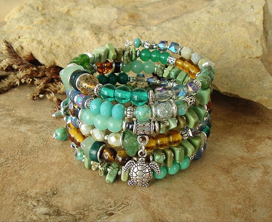 Turquoise turtle earrings/ sea turtle earrings/ silver and  |Turquoise Sea Turtle