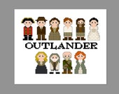 Outlander Pixel People Character Cross Stitch PDF PATTERN ONLY