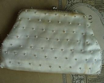 Antique Rare Art Nouveau Exquisite Hand Beaded Purse Bag