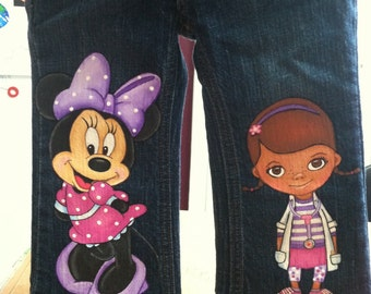Custom Disney Clothing Hand Painted 2 Character Toy By