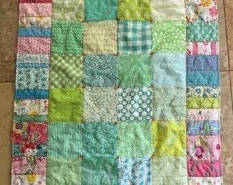 Baby Girl Crib Quilt Blanket shower gift nursery decor