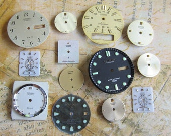 Vintage Antique Watch  Assortment Faces - Steampunk - Scrapbooking f44