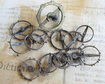 Vintage WATCH PARTS gears - Steampunk parts - v5 Listing is for all the watch parts seen in photos