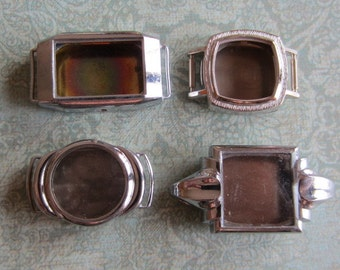 Vintage  Watch parts - watch Cases -  Steampunk - Scrapbooking  s88