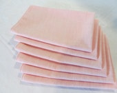 Cloth Napkins Made of Vintage Pink Fabric