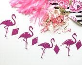 Flamingo Garland. Glitter Garland. Lets Flamingle. Party Garland. Party Decor