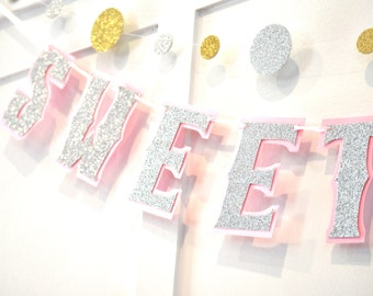 Sweet Sixteen Banner, Sweet Sixteen Birthday Banner, Sweet 16 Birthday Banner, Sweet 16 Banner, Sweet Sixteen Party Banner, Sweet 16 Party