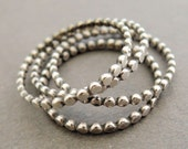 Sterling Silver Rings thin oxidized silver stacking rings