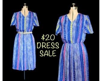 SALE! Vintage 80s Free Form Geometric Dress