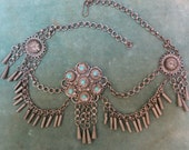 A Middle Eastern Necklace in Silver and Turquoise