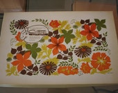 SALE! (was 10) Contempo paper ware vintage paper placemats and napkins set in box - floral by Betsey