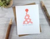 Pink Polka Dot Birthday Card