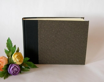 Photo album and  guest book - black with gold dots chiyogami - 6x8in 15x20.5cm - 30 pages - Ready to ship