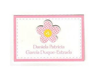 Pink Flower Calling Card