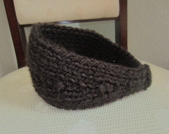Dark Chocolate Hand-Knit Headband