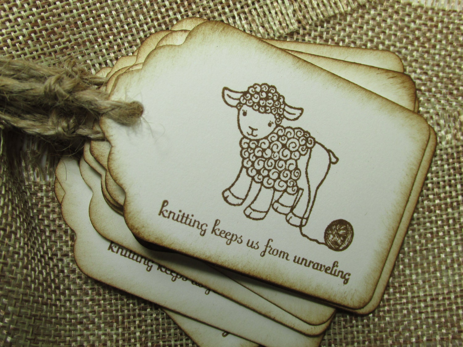 Knitting tags for your hand knit projects cute knitting tags for Hand knit labels