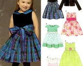 New Look 6448 Sewing Pattern - Easy Dress Pattern - Girls Size 1/2 to 4