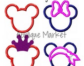 Machine Embroidery Design Applique Mouse Ears Minis INSTANT DOWNLOAD