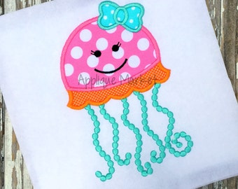 Machine Embroidery Design Applique Jellyfish INSTANT DOWNLOAD