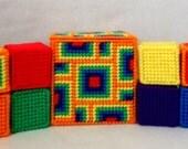 Jingle Bell Block Set -  Orange Kaleidoscope