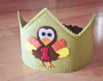 Little Turkey Birthday Crown