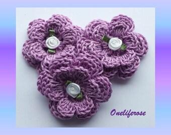 Crochet Flower 3 pcs
