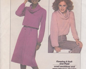 Simplicity 8162 Misses' Jiffy Pullover Top and Skirt Sizes 14, 16 Vintage UNCUT Pattern Easy Pattern