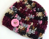 Newborn girl 0-3 months baby hat beanie multi colored infant hat baby photo prop Ready To Ship