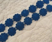 "Vintage Trim Blue Flowers 23"" x 3/4"""