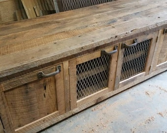 YOUR Custom Industrial and Rustic Barn Wood Entertainment Center FREE SHIPPING-IRBWEC900F