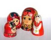 Nesting Doll Craft Supply Doll Heads Boho Decor