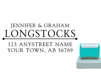 Personalized Self Inking Return Address Stamp - self inking address stamp - Custom Rubber Stamp R174