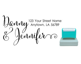 Personalized Self Inking Return Address Stamp - self inking address stamp - Custom Rubber Stamp R264