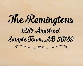 Personalized Self Inking Address Stamp - Return address stamp R300