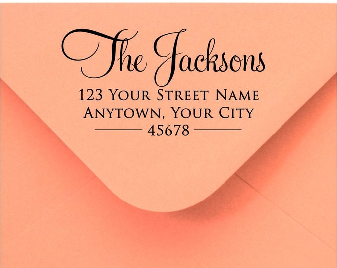 Personalized Self Inking Return Address Stamp - self inking address stamp - Custom Rubber Stamp R286