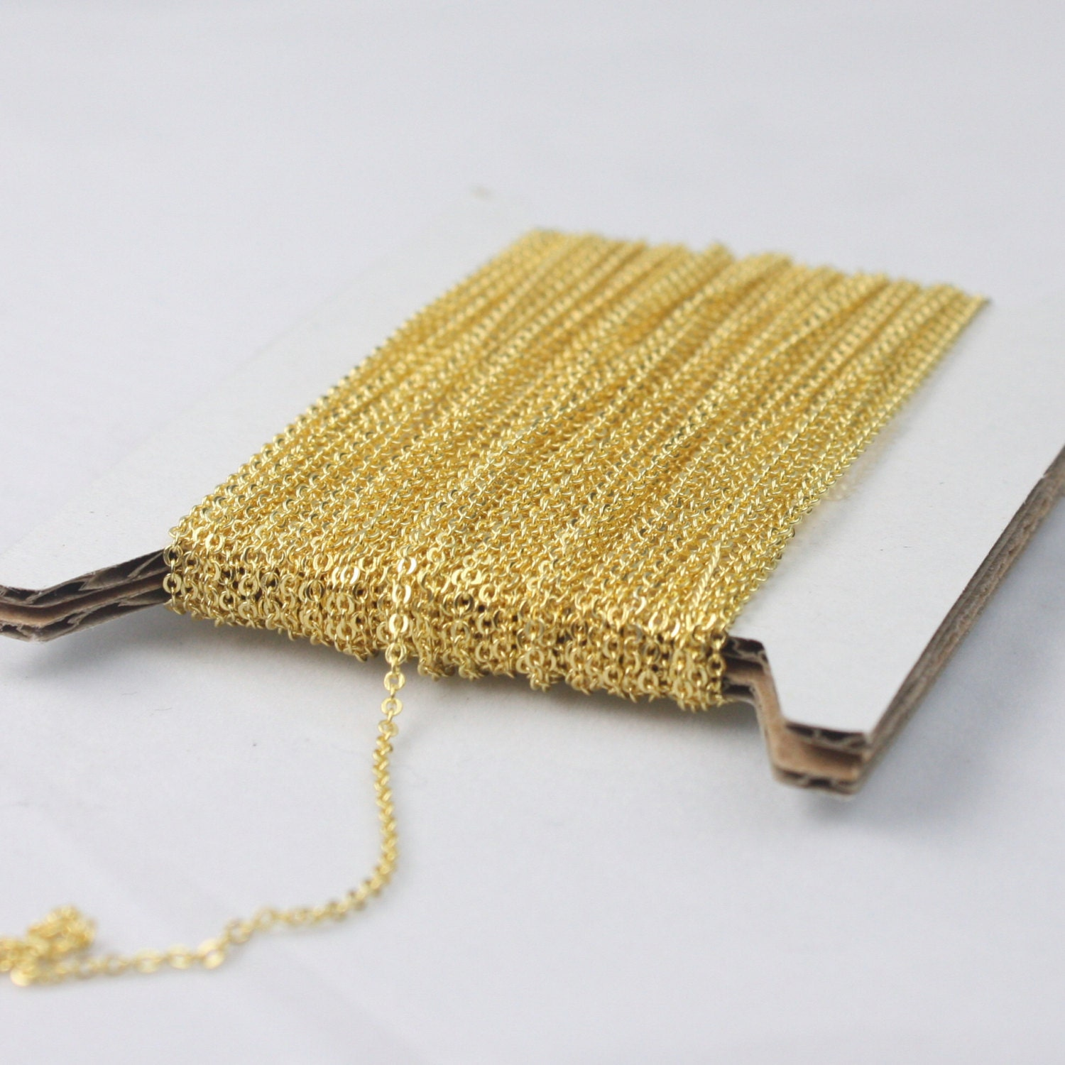 Bulk model rockets wholesale - Gold Plated Chain Bulk Chain 10 Ft Of Tiny Flat Soldered Necklace Wholesale Cable Chain 2x1 4mm Free Adequate Jumpring 50pcs