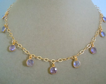 NEW MARKDOWN: One of a Kind -- Violetta -- Amethyst Gemstone Necklace