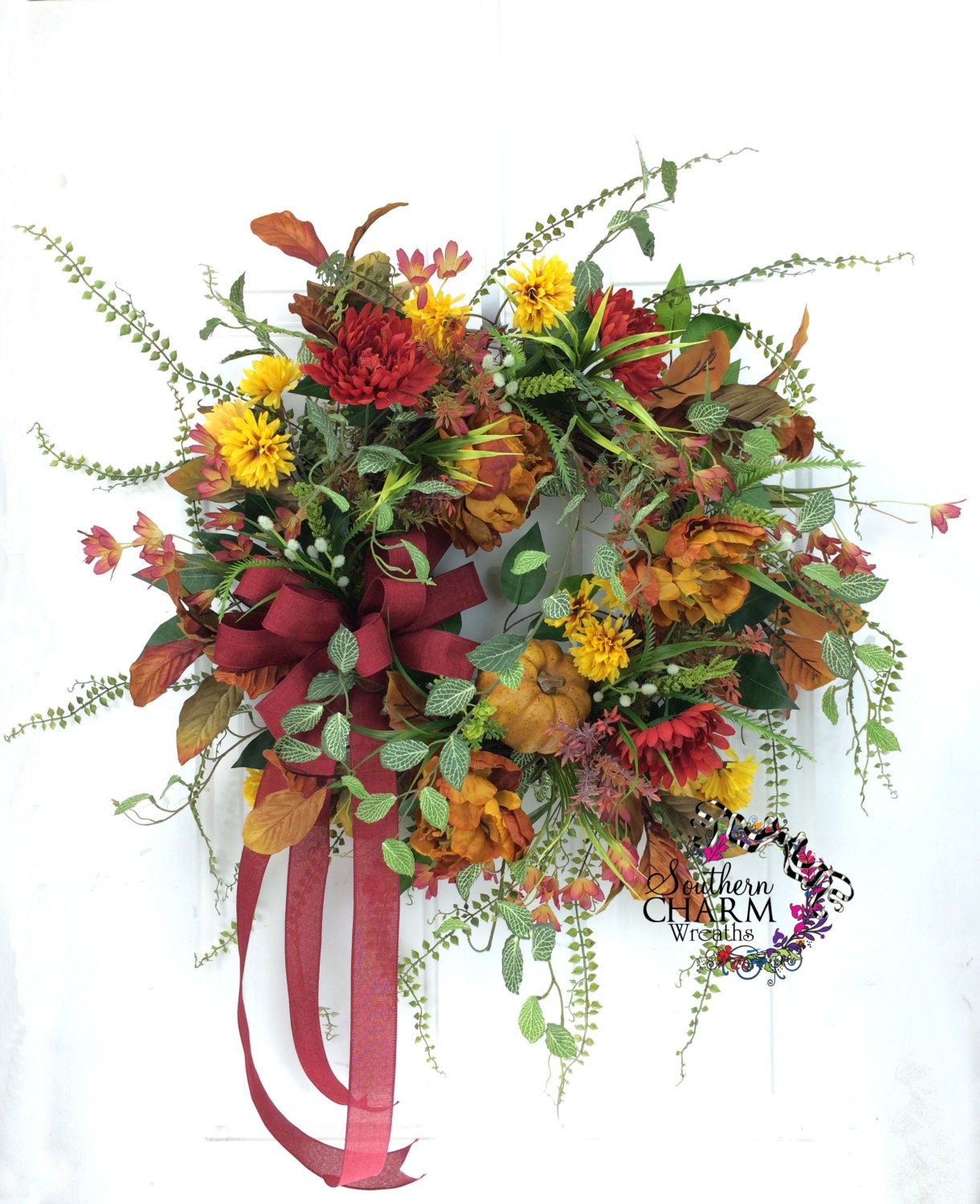 Autumn Wreath Fall Door Wreath Fall Decor By
