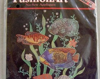 Vintage Dimensions FashionArt No-Sew Applique - Bright Tropical Fish by Denis Williamson (80096)
