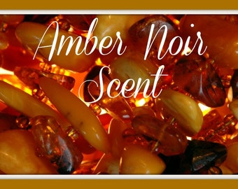 AMBER NOIR Scented Soy Wax Melts - Soy Wax Tarts - Wickless Candle - Handmade Candle - Highly Scented - Hand Poured In USA