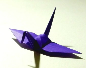 100 Small Origami Cranes Origami Paper Cranes Origami Crane - Made of 7.5cm 3 inches Japanese Paper - Purple