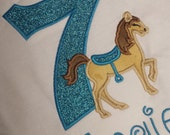 Pony Horse NUMBER BIRTHDAY Shirt Boutique Custom Personalized Girls Boys Name Included