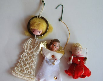 Vintage Christmas Angel Ornaments
