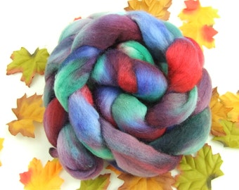 PLUMS and ROSES - 4.5 oz Hand-Painted BFL Top