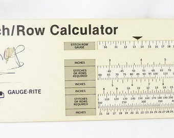 Vintage stitch gauge-rite calculator 1982 perrygraf
